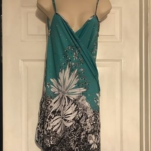 Teal blue wrap around cover up Small worn once